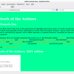 The Death of the Authors: Remix van werken uit het publieke domein * Remixing works of the public domain
